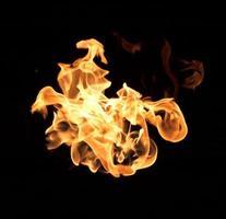 de rode vlammen foto