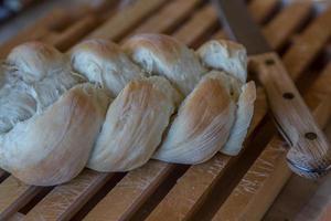 zelfgemaakte vlecht broodbakkerij