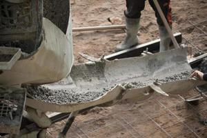 beton gieten foto