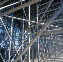close-up van een industriële bouwplaats foto