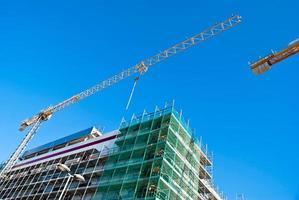 hoogbouw bouwplaats foto