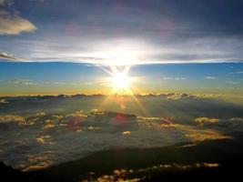 Japan, het prachtige uitzicht vanaf de top van Mt.Fuji foto