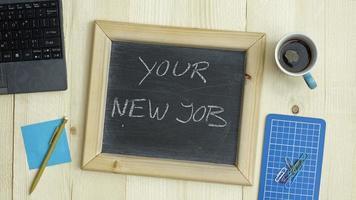 je nieuwe baan foto