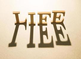 leven concept en schaduw foto