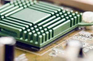 computer moederbord close-up foto