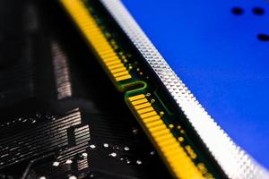 computergeheugen close-up