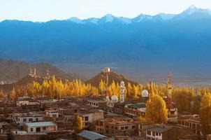 leh stad ladakh noordelijk india foto