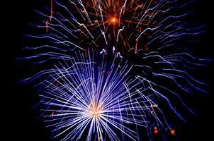 prachtig vuurwerk. foto