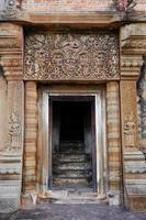 de steen snijdt bij de tempel van de kasteelrots