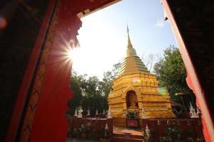 tempels in het Thaise land van Chiang Mai foto