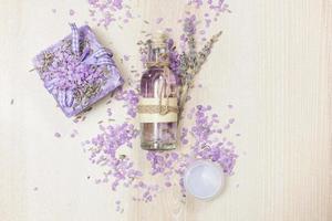 lavendel schoonheidsproducten foto