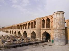 33 pol allah verdi khan brug in isfahan, iran foto