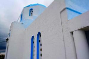 Grieks-orthodoxe kerk in Poros eiland foto