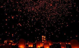 yee peng, sky lantaarn foto