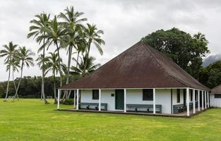 waioli huiia mission hall in hanalei kauai foto