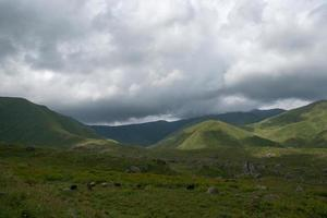 wandelen in de bergen foto