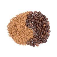 koffie in de vorm van teken foto