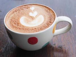 hete latte is goed voor je ochtend foto