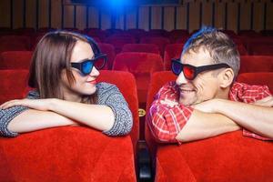de toeschouwers in de bioscoop foto