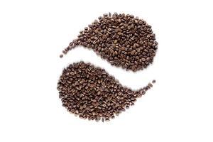 koffie yin yan ontwerp foto