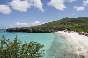 mensen genieten van tropisch strand foto