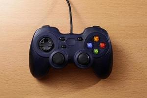 blauwe gamepad voor gamer foto