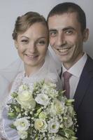 huwelijk van een jong stel foto