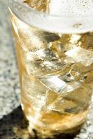koude kop bier foto
