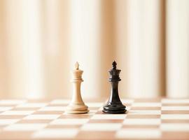 schaken koningen, bedrijfsconcept foto