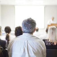 zakelijke conventie en presentatie. foto