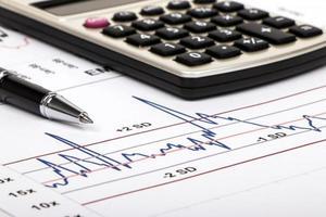 financiële analyse en marketinggrafiek foto