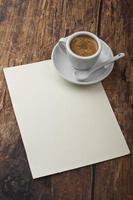 koffie en brief foto