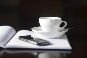 maak een koffiepauze foto