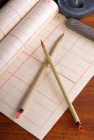 het schrijven van penseel pen