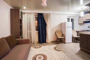 kamer met rustgevende kleuren, huiselijke sfeer foto