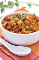 kikkererwten zoete aardappel curry foto