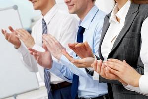 klappende handen foto