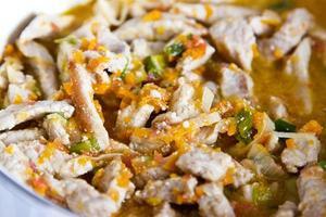 stoofpot met groenten close-up