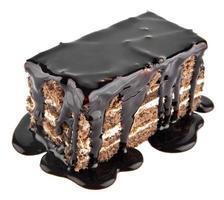 cake in een chocolade foto