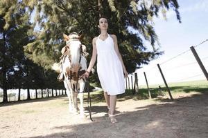 la dama y caballo foto