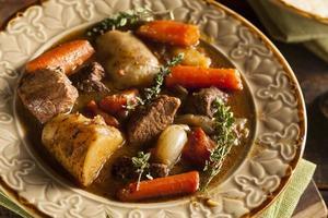 zelfgemaakte Ierse rundvleesstoofpot