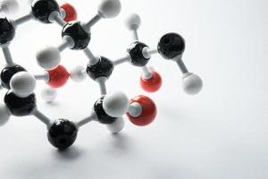 wetenschap moleculaire DNA-modelstructuur, bedrijfsconcept foto