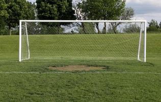 wijd open voetbalnet foto