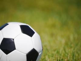 voetbal voetbal gras foto