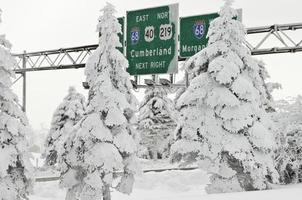 bevroren wonderland in Pennsylvania foto