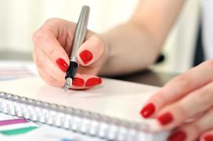 hand schrijven foto