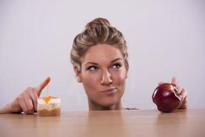 gezonde versus ongezonde beslissingen foto