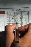 sudoku puzzel foto