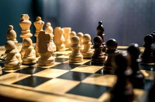 houten schaak foto