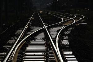 spoorlijn kruising foto